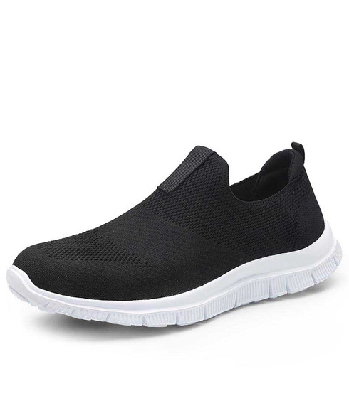 Black flyknit slip on shoe sneaker