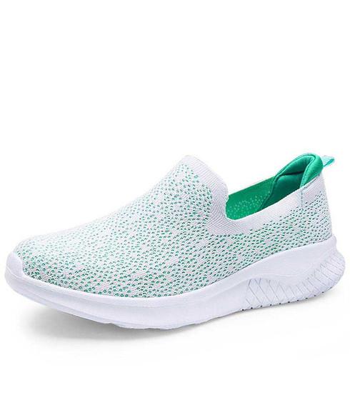 Green flyknit slip on shoe sneaker