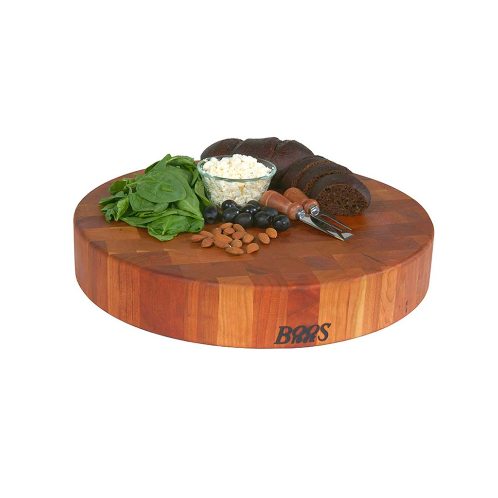 "John Boos Cherry Chopping Block - 18"" Diameter"