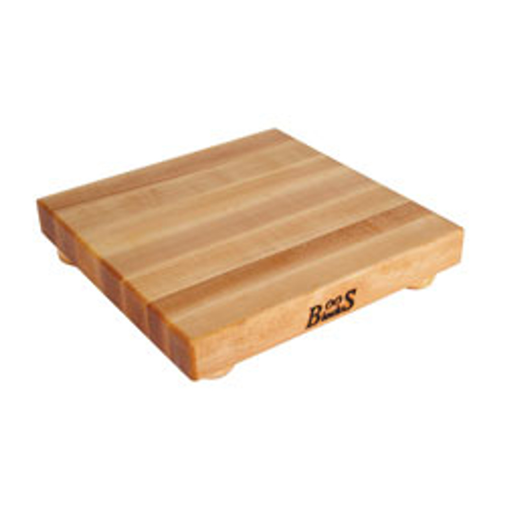 "John Boos Maple Cutting Board - 12""x 12""x 1-1/2"" - with Maple Feet"