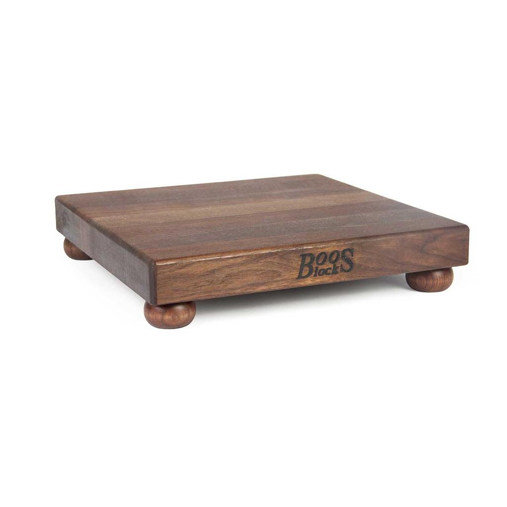 "John Boos Walnut Cutting Board - 12""x 12""x 1-1/2"" - with Walnut Feet"