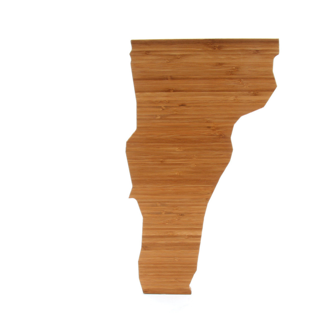 Vermont State Shaped Bamboo Cutting Boards
