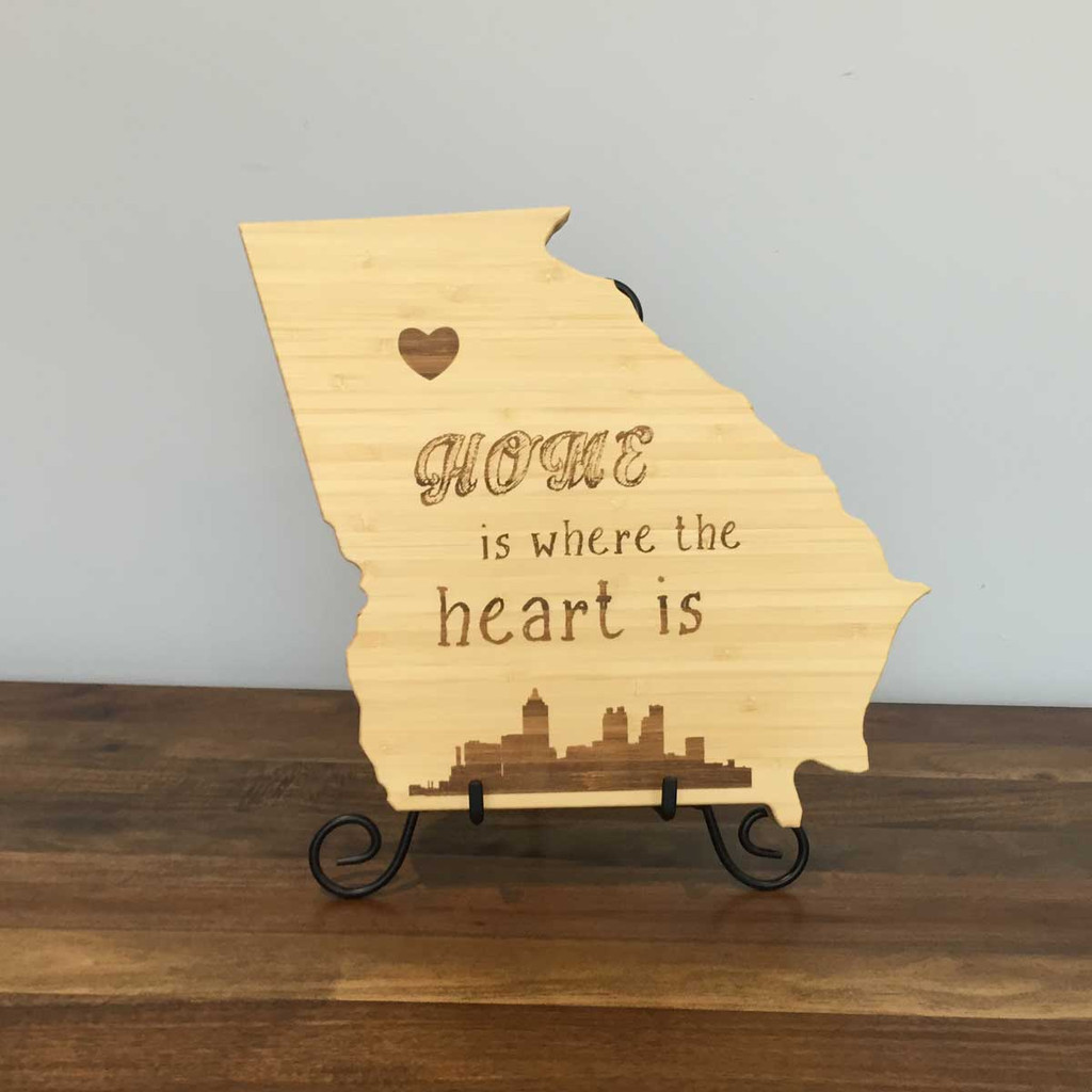 Georgia Board with Home is Where the Heart is and Atlanta Skyline