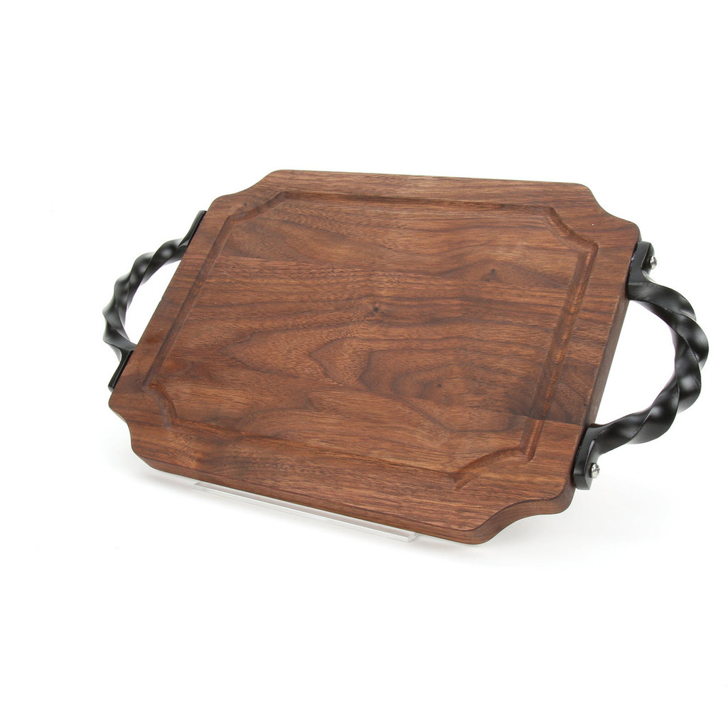 "Selwood 9"" x 12"" Cutting Board - Walnut (w/ Twisted Handles)"