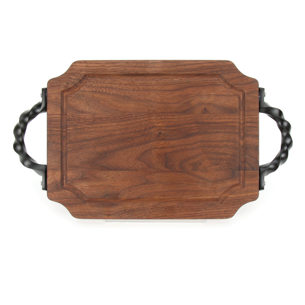"""Selwood 9"""" x 12"""" Cutting Board - Walnut (w/ Twisted Handles)"""