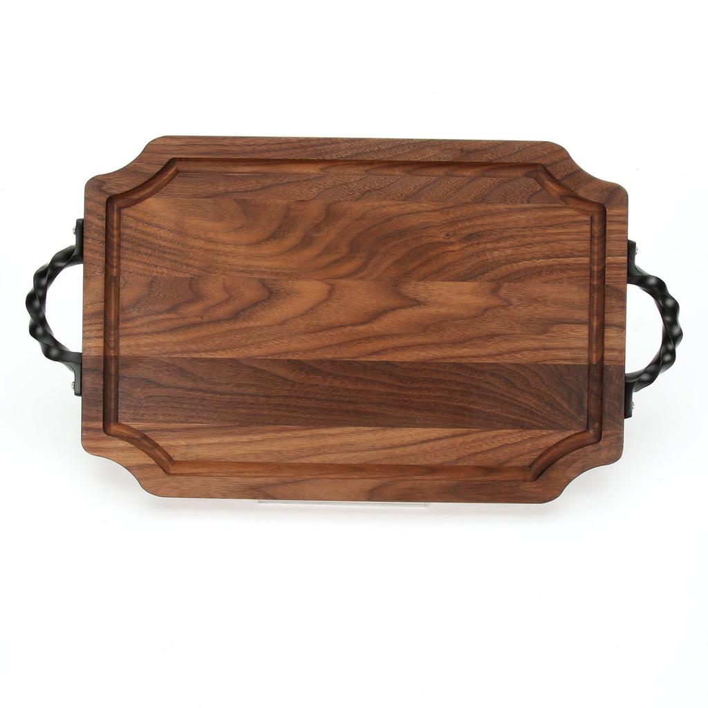 """Selwood 12"""" x 18"""" Cutting Board - Walnut (w/ Twisted Handles)"""