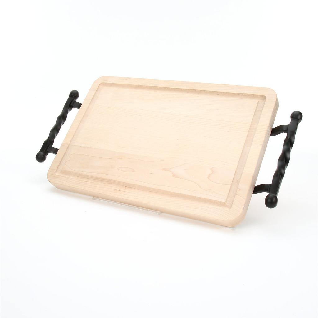 "Wiltshire 10"" x 16"" Cutting Board - Maple (w/ Twisted Ball Handles)"