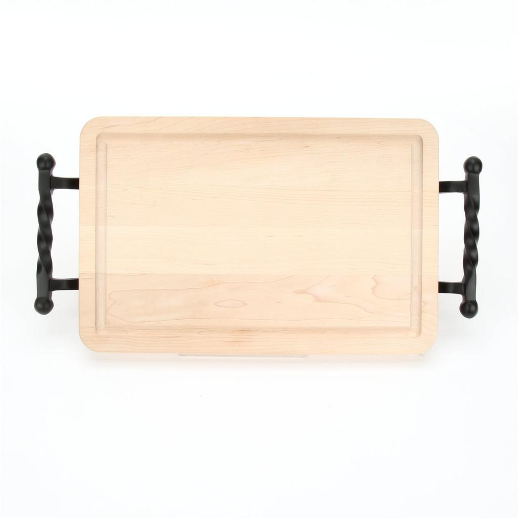 "Wiltshire 15"" x 24"" Cutting Board - Maple (w/ Twisted Ball Handles)"
