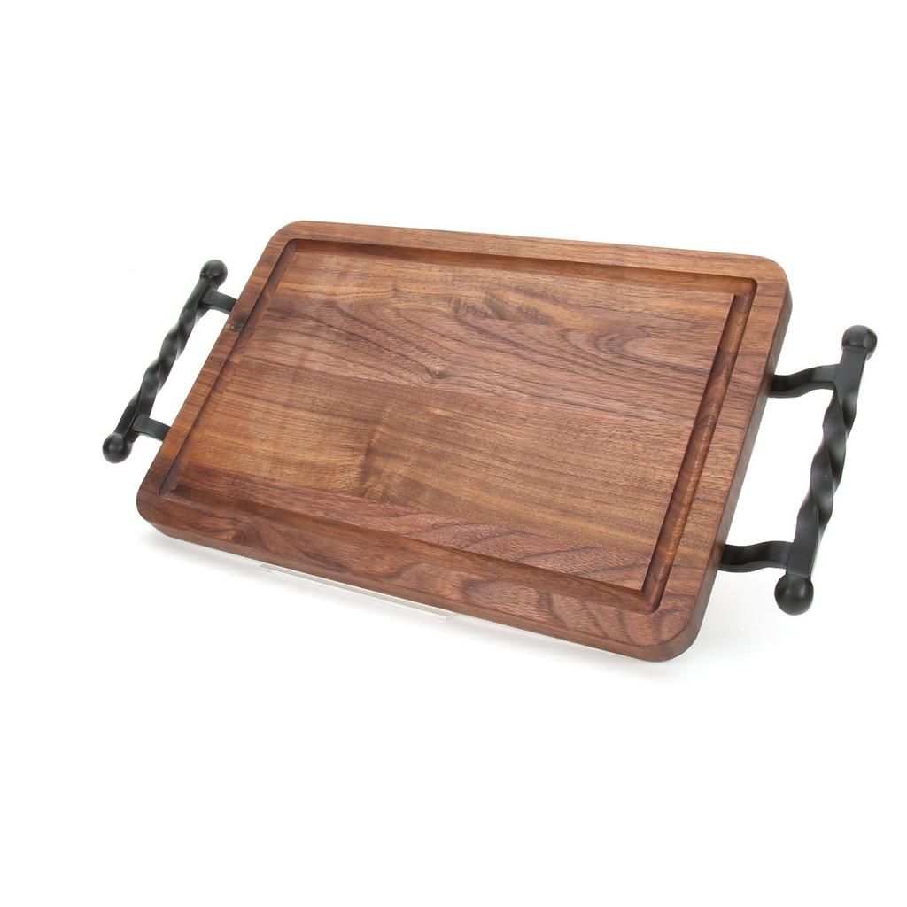 """Wiltshire 10"""" x 16"""" Cutting Board - Walnut (w/ Twisted Ball Handles)"""