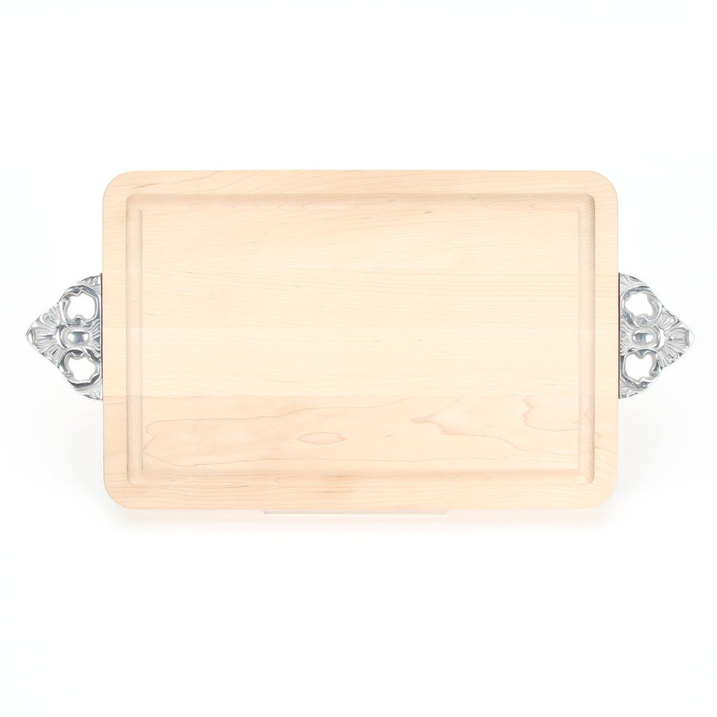 """Wiltshire 10"""" x 16"""" Cutting Board - Maple (w/ Scalloped Handles)"""