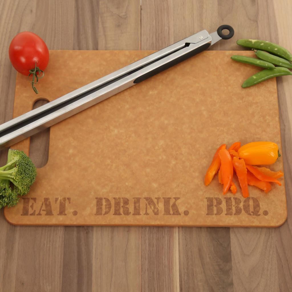 Eat. Drink. BBQ. High Temp Cutting Board