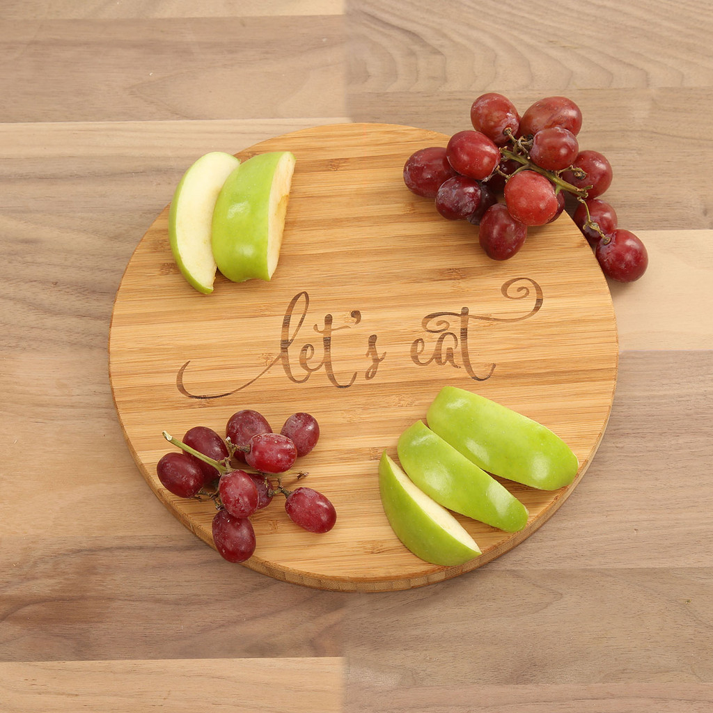 Let's Eat - Round Cutting Board