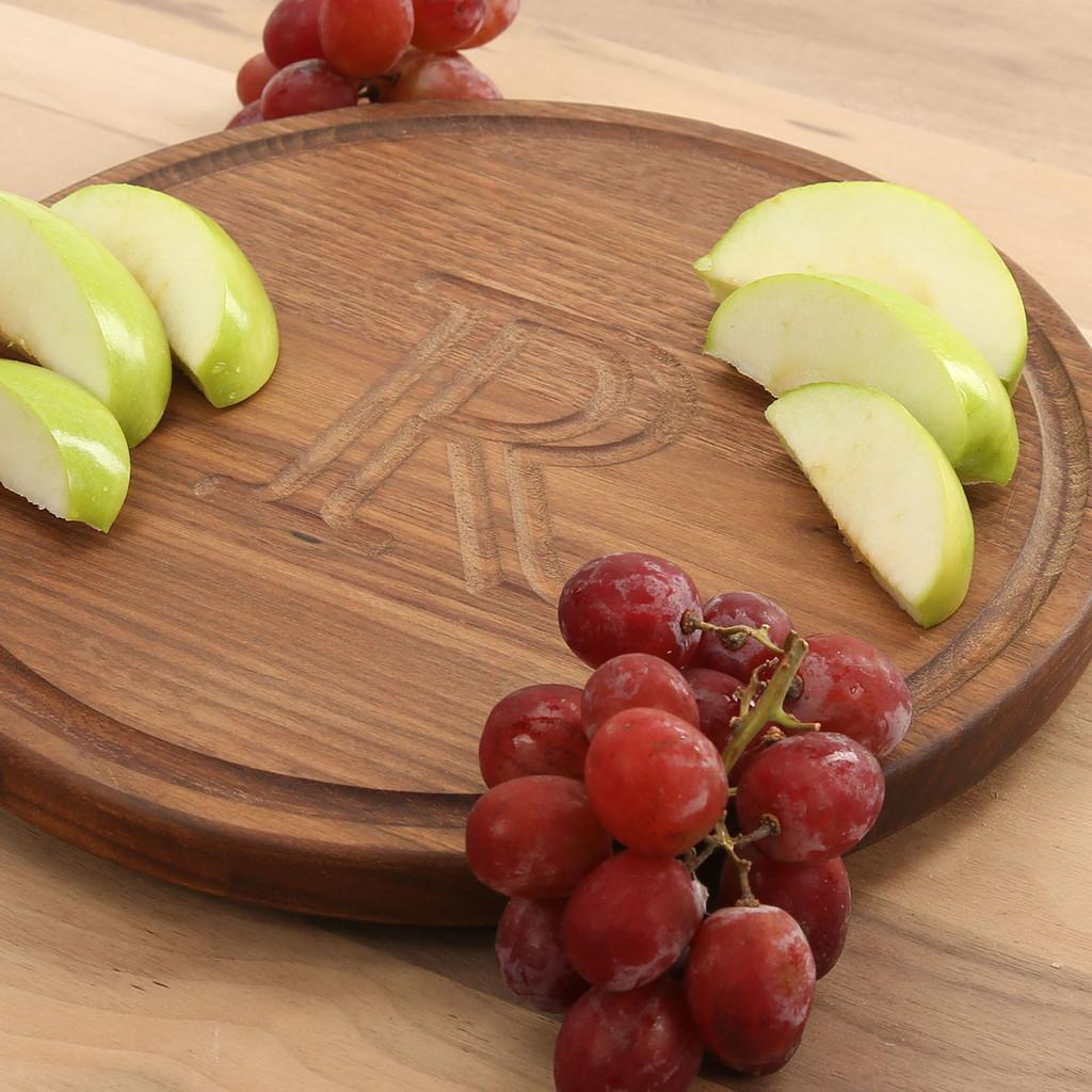 Carved Walnut Circle Cutting Board