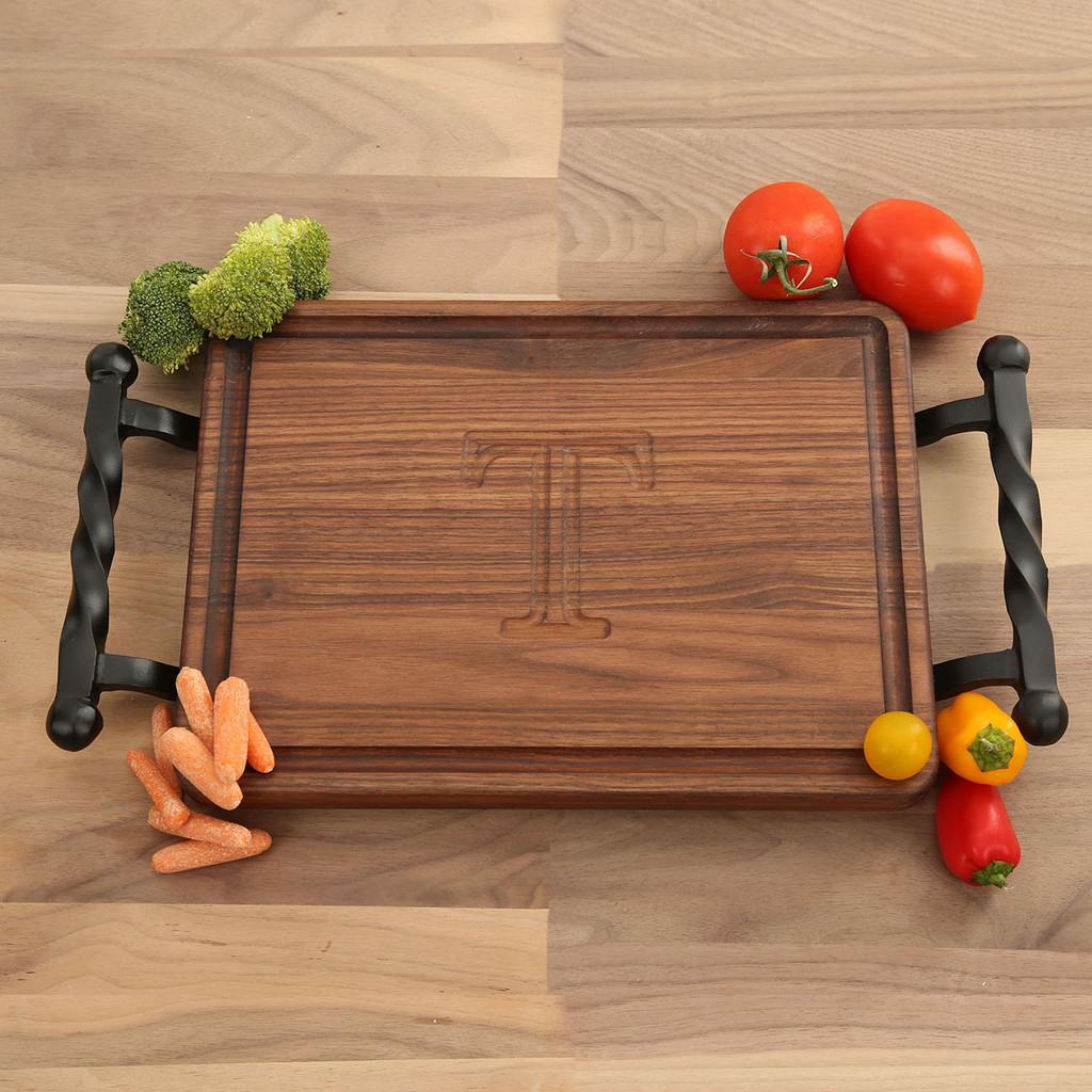 Carved Walnut Rectangle Cutting Board