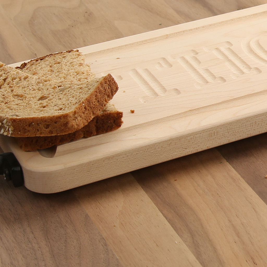 Personalized Carved Maple Bread Board