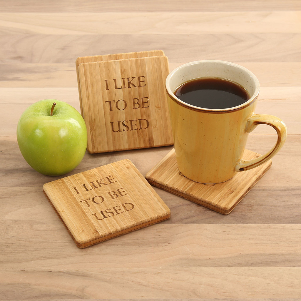 I like to be used Coaster Set