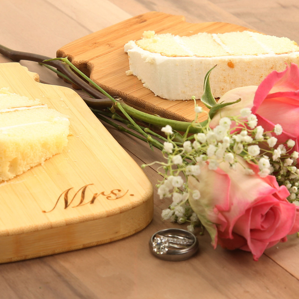 Mr. & Mrs. Cheese Board Set