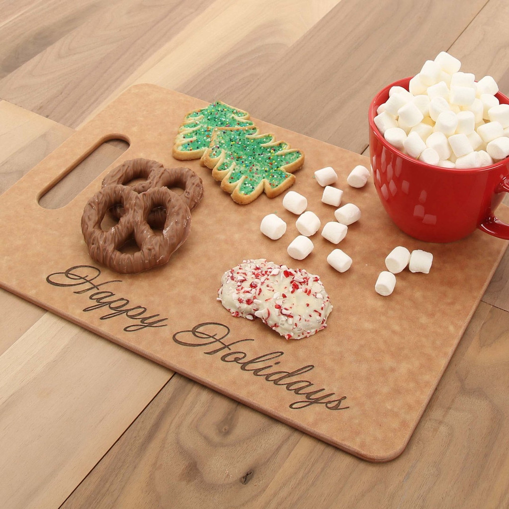 Happy Holidays Richlite Serving Board