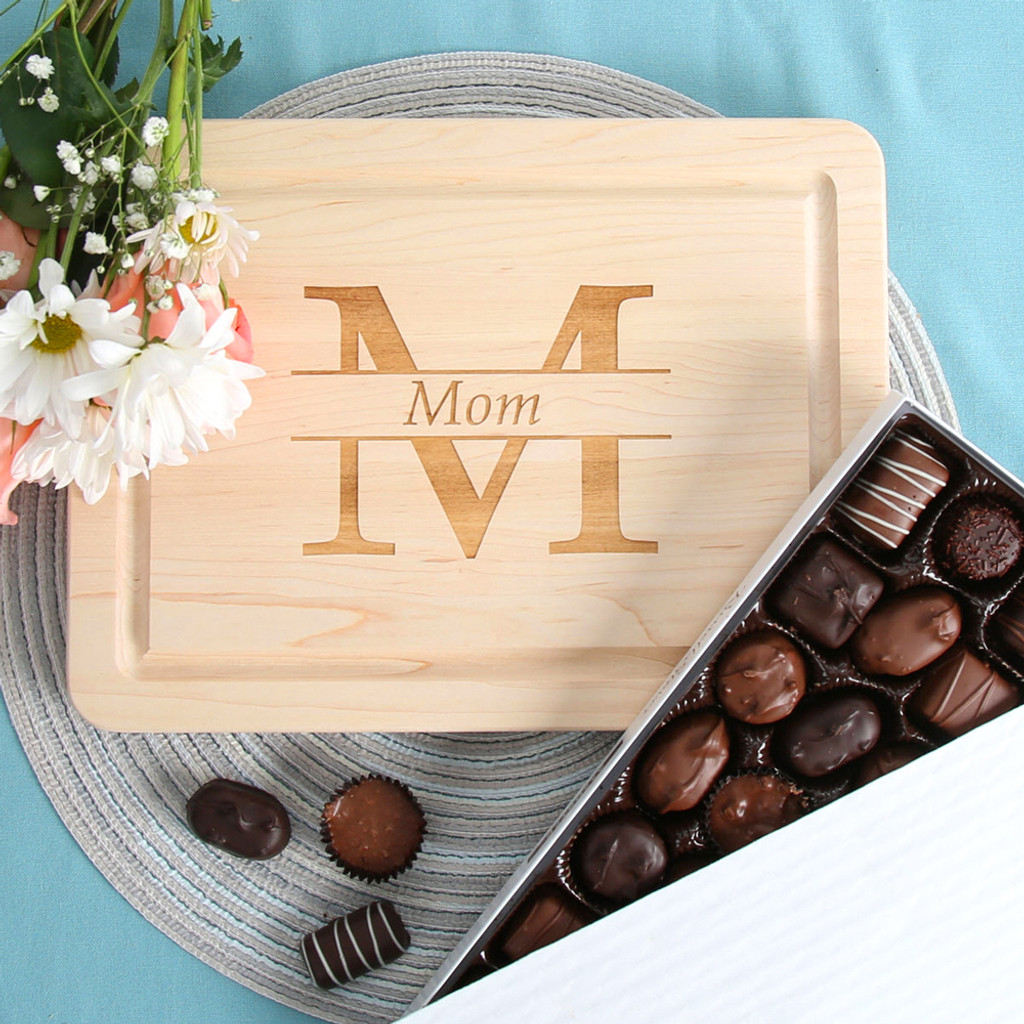 Mom Monogram Cutting Board