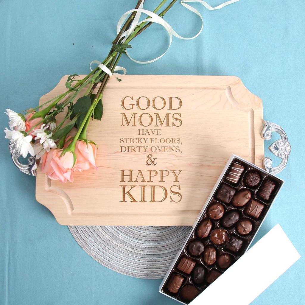 Mom Quote - Maple Cutting Board
