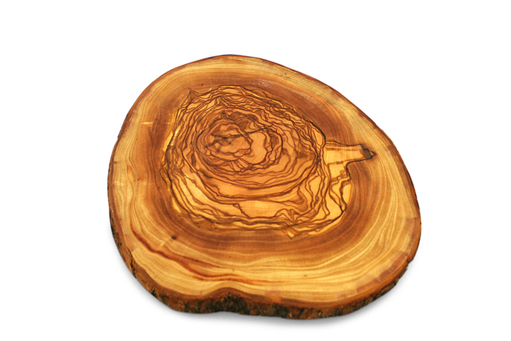 Beautiful crosscut olive wood board