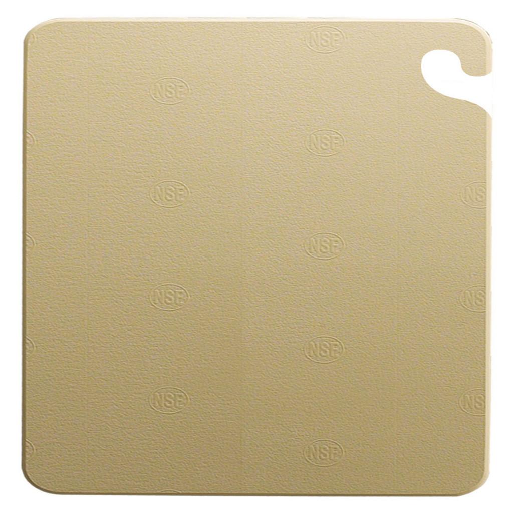 "San Jamar BROWN Cut-N-Carry Cutting Board 12"" x 18"" x 1/2"""