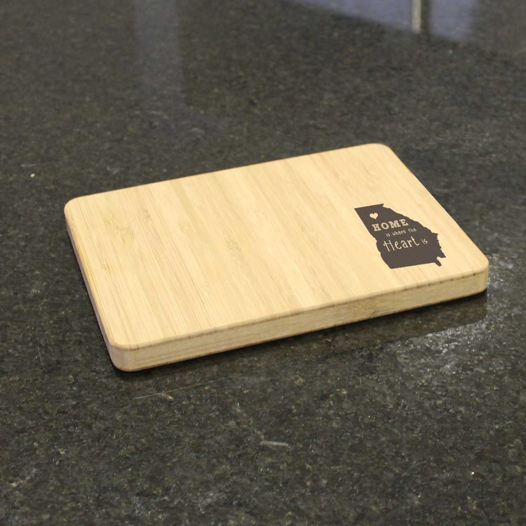 Home Is Where the Heart Is Engraved Cutting Board