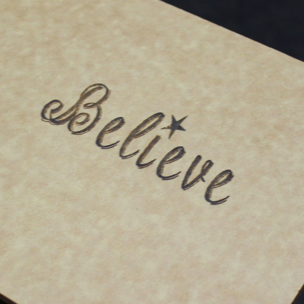 Believe Engraved Cutting Board