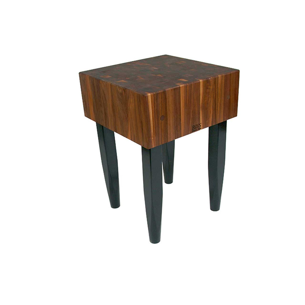 "John Boos 24""x24""x10"" Walnut Block with Black Legs"