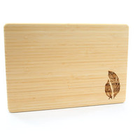 Feathers Laser Engraved Cutting Board