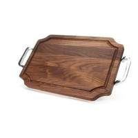 "Selwood 12"" x 18"" Cutting Board - Walnut (w/ Polished Handles)"