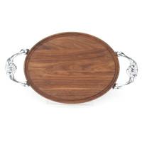 "Grandbois Standard 9"" x 12"" Cutting Board - Walnut (w/ Victorian Handles)"