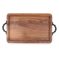 "Wiltshire 10"" x 16"" Cutting Board - Walnut (w/ Twisted Handles)"