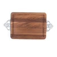 "Wiltshire 9"" x 12"" Cutting Board - Walnut (w/ Scalloped Handles)"