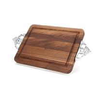 "Wiltshire 10"" x 16"" Cutting Board - Walnut (w/ Scalloped Handles)"