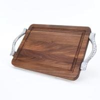 """Wiltshire 9"""" x 12"""" Cutting Board - Walnut (w/ Rope Handles)"""