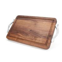 """Wiltshire 10"""" x 16"""" Cutting Board - Walnut (w/ Rope Handles)"""
