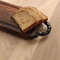 Carved City Walnut Bread Board