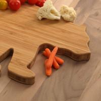 Bear Shaped Bamboo Cutting Board