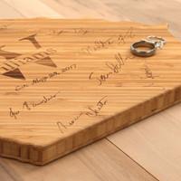 Signature State Shaped Bamboo Cutting Board