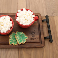 Baby It's Cold Outside - Walnut Serving Tray