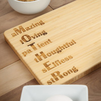 MOTHER Bamboo Cutting Board