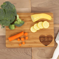Heart Engraved Cutting Board