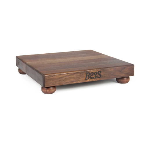 "John Boos Walnut Cutting Board - 12""x 12""x 1-1/2"" - with Walnut Feet"