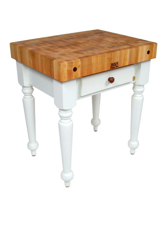 "John Boos Rustica Kitchen Island Alabaster Base  - 30""x 24""x 4"""