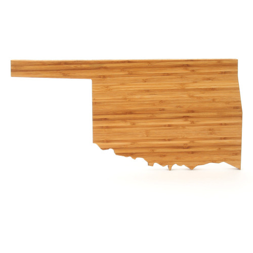 Oklahoma State Shaped Cutting Boards
