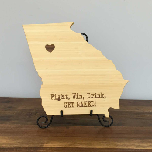 Georgia Board with Fight, Win, Drink, Get Naked!