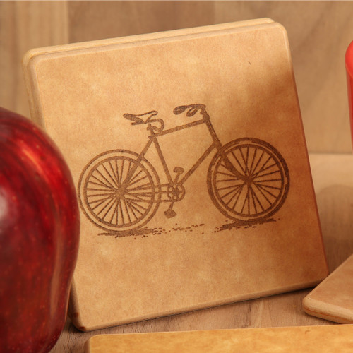 Bicycle Engraved Coaster Set