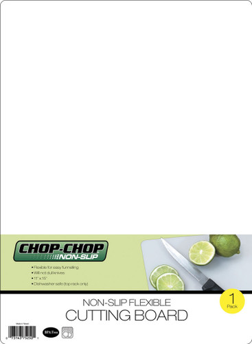 "Chop-Chop Non-Slip Flexible Cutting Board(Clear), Size 11"" x 15"""