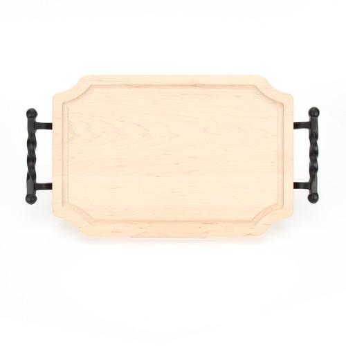 "Selwood 12"" x 18"" Cutting Board - Maple (w/ Twisted Ball Handles)"